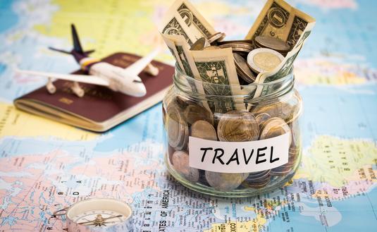 Travel savings, budget, money.