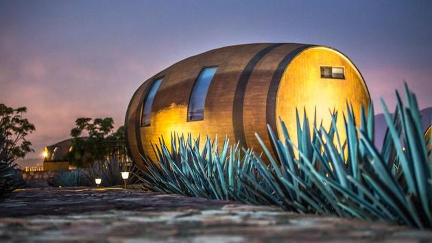 Las barricas o habitaciones del Hotel Matices en Tequila Jalisco. (Foto cortesía de Matices Hotel de Barricas)