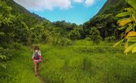 HIking through Maui, Hawaii.