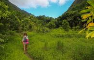 HIking through Maui, Hawaii.