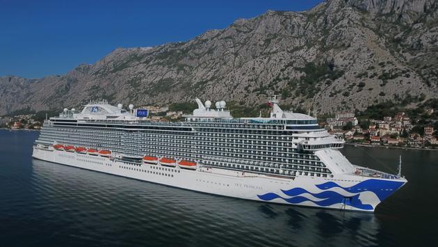 Sky Princess at Kotor, Montenegro