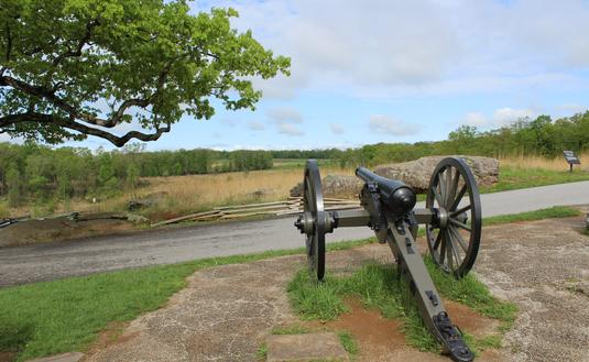 Canon at Devil's Den at Gettysburg National Military Park