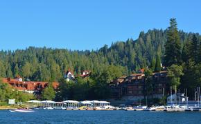 Water view of Lake Arrowhead village