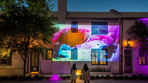 Digital street art in Alys Beach