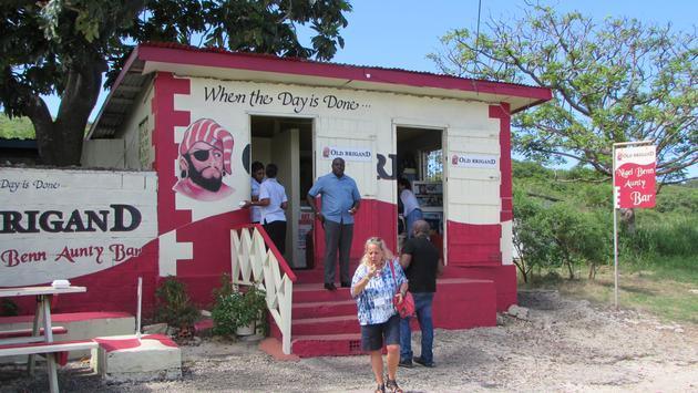Nigel Benn Aunty Bar Barbados