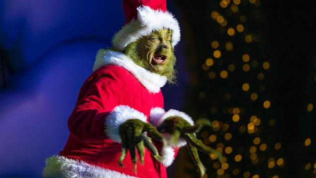 The Grinch at Universal's Islands of Adventure theme park in Orlando, Florida.