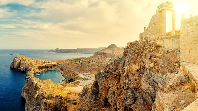 Acropolis of Lindos, Lindos, Rhodes, Greece