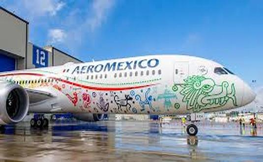 El avión Boeing 787 de Aeroméxico Quetzalcóatl. (Foto de Aeroméxico)
