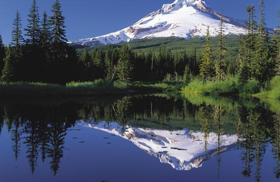 Mount Hood National Forest, mirror lake, hiking trail
