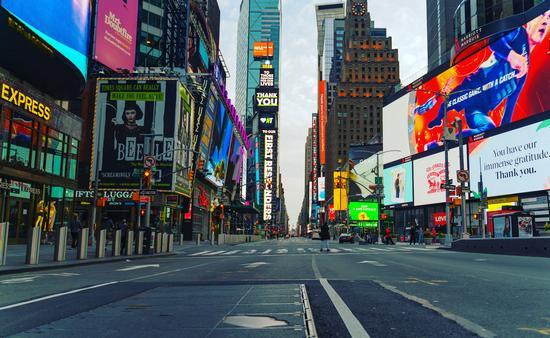 Times Square during the coronavirus pandemic