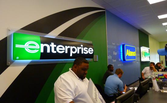 Enterprise Car Rental Counter