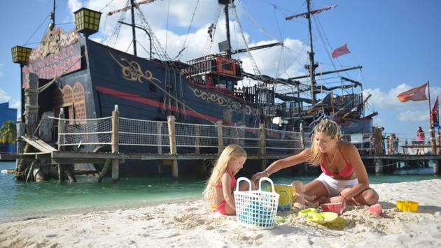 Pirate's Beach, part of the Kiddo Zone at Hotel Oasis Palm, Cancun, Mexico.