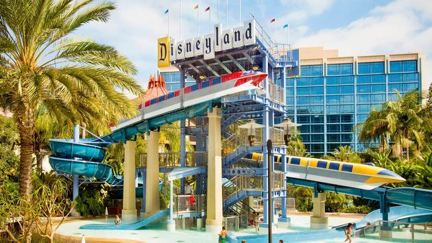 Disneyland Hotel Monorail waterslides