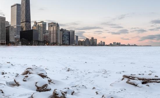 Chicago in the snow.