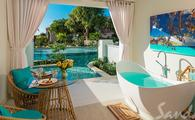1 Free Night: Crystal Lagoon Swim-up One-Bedroom Butler Suite w/ Patio Tranquility Soaking Tub