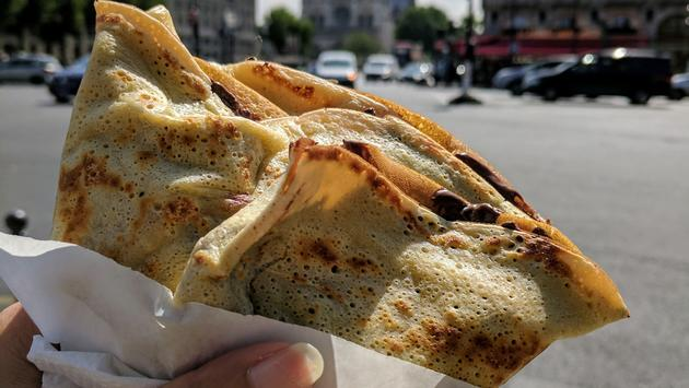 A crepe in Paris by Notre Dame