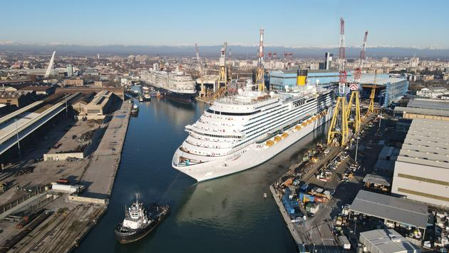 New ship leaves Fincantieri shipyard
