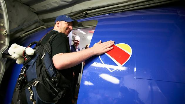 Southwest's heart logo.