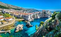 Croatian City of Dubrovnik on the Adriatic coast