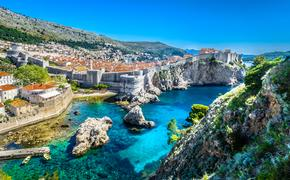 Croatian City of Dubrovnik on the Adriatic coast