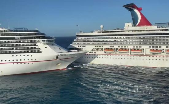 Deux navires de Carnival Cruise Line en collision