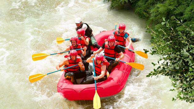 Rafting at Xavage, Xcaret Mexico