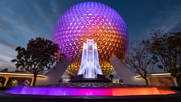 Reimagined fountain at EPCOT