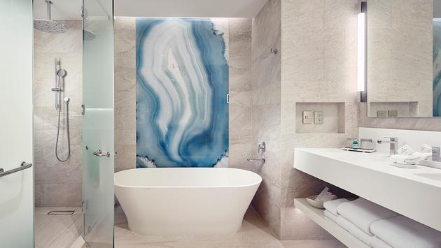 Guest room bathroom at JW Marriott Cancun Resort & Spa