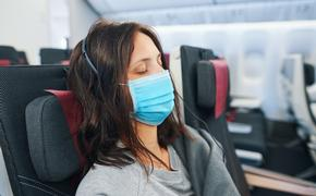 Face masks are largely mandated aboard flights amid COVID-19.
