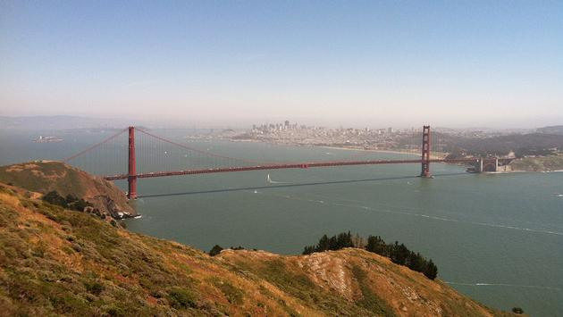 View of the Golden Gate Bridge from the Marin Headlands