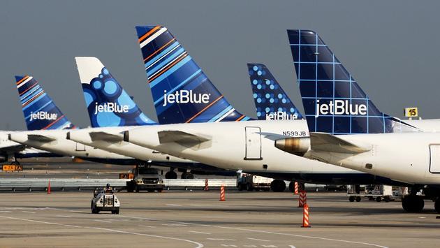 JetBlue Airbus A320 tailfins.