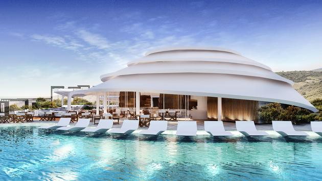 A pool at Nikki Beach Hotels and Resorts
