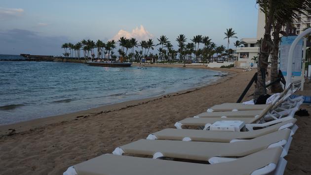 Caribe Hilton beach.
