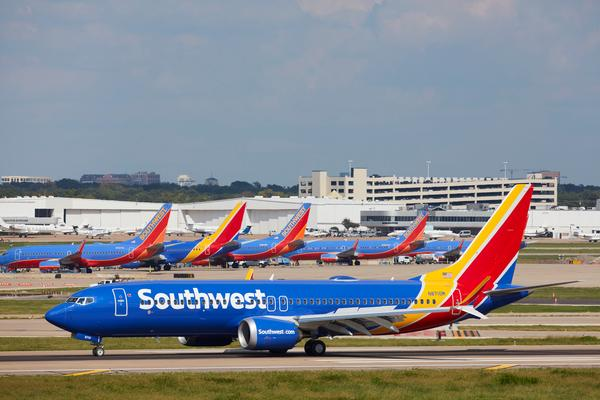 Southwest Airlines Cancels Boeing 737 MAX Flights Through November