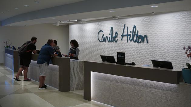 Caribe Hilton lobby in San Juan Puerto Rico.