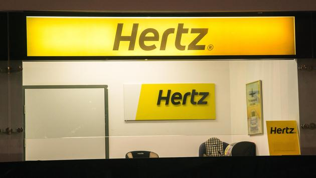 A Hertz car rental office