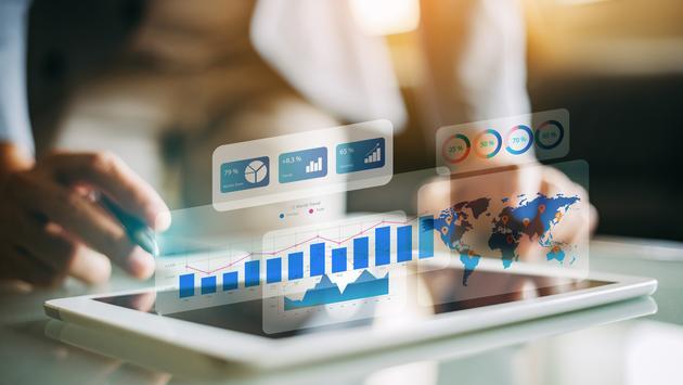 Business performance analytics concept.