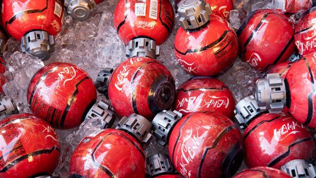 'Thermal Detonator' Coca-Cola Bottles at Star Wars: Galaxy's Edge