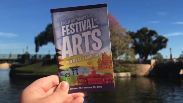 2019 Festival of the Arts Booklet from Epcot