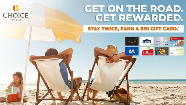 """Choice Hotels' """"Get on the Road. Get Rewarded."""" Summer Promotion."""