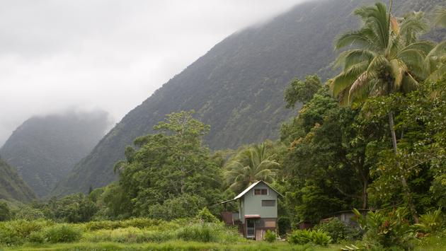 A house in Waipio Valley, Hawaii
