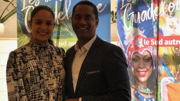 Deborah Coffre, responsable des TO et des agents de voyages et Willy Rosier, directeur du Comité du Tourisme des îles de Guadeloupe.