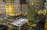 Winter in Rockefeller Center, New York City