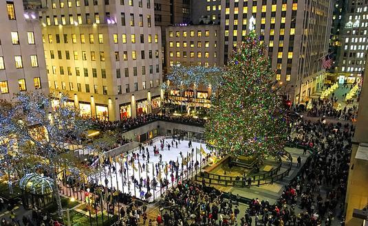 Winter in Rockefeller Center, New York City