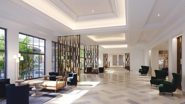 Elegant lobby at JW Marriott Miami Turnberry