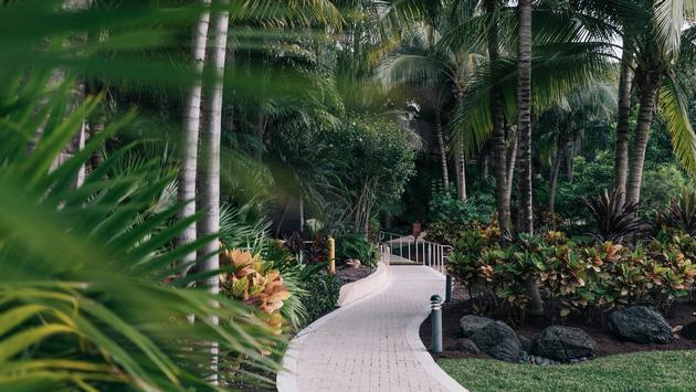 300-acre tropical outdoor oasis at Elegant lobby at JW Marriott Miami Turnberry