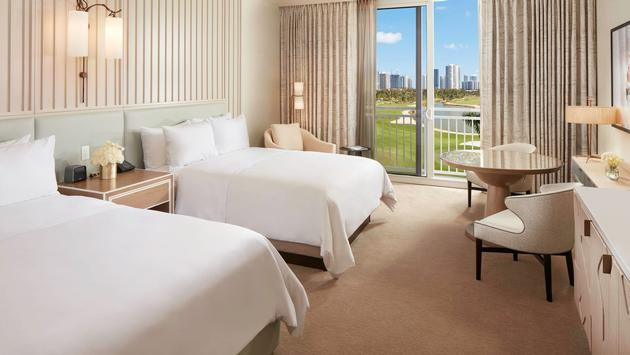 Double queen guest room at JW Marriott Miami Turnberry