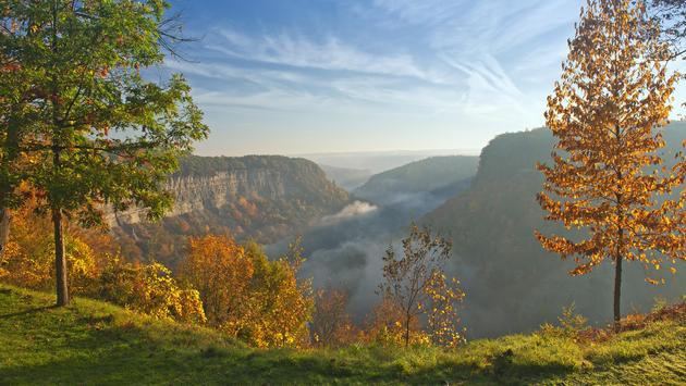 Great Bend Overlook at New York's Letchworth State Park