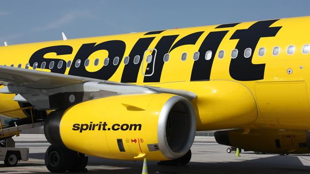 Spirit Airlines plane.