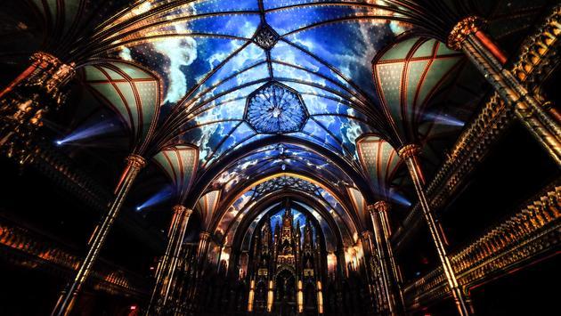The Aura Light Show at Notre Dame Basilica
